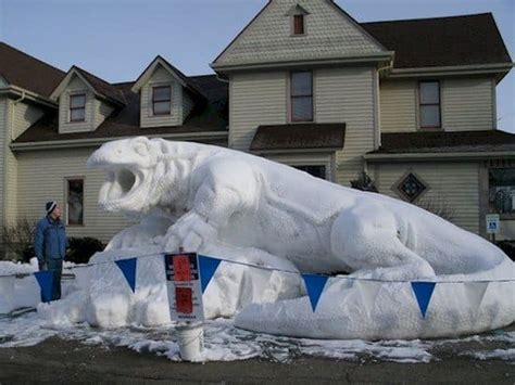 incredible snow sculptures thatll   snowman