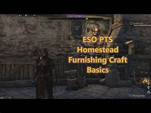 ESO PTS v2 7 0 Crafting Furniture Basics - YouTube