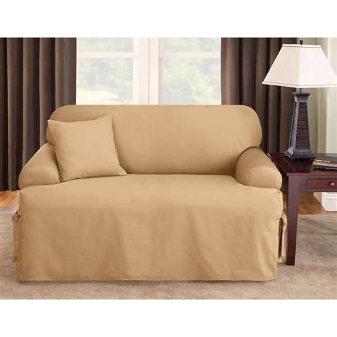 sure fit sofa covers sure fit logan t cushion sofa slipcover 292833