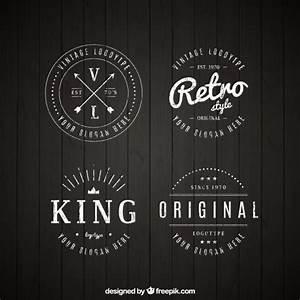 Set de logos vintage en estilo lineal Descargar Vectores gratis