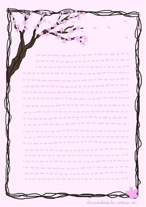 cute lined paper printable butterfly writing paper