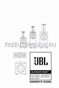 User U0026 39 S Manual For Speaker System Jbl 1000 Array  Download Free