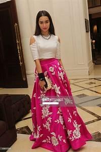 Bollywood Replica - Shraddha Kapoor Pink u0026 White Party Wear Crop Top Lehenga