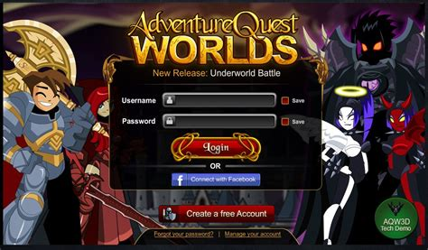 AdventureQuest Worlds on aq.com Play Online Now
