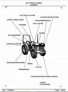 Kubota L2500 Dt Tractor Parts Manual