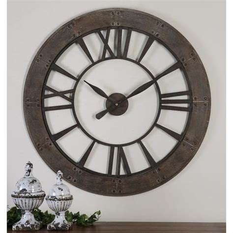 Uttermost Wall Clocks by Uttermost Ronan Wall Clock Large Beyond Stores