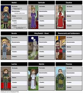 Hamlet Character Map Storyboard By Rebeccaray
