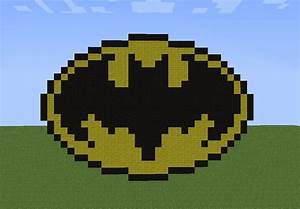 minecraft bat symbol pixel art minecraft pixel art With minecraft pixel art templates batman