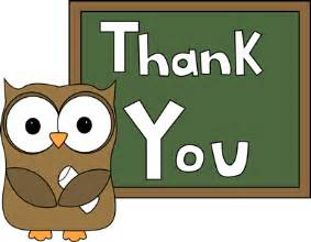 Owl Thank You Clip Art