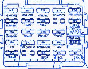 Gmc Sierra 1500 Sle 1993 Fuse Box  Block Circuit Breaker Diagram