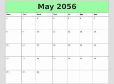 May 2056 Printable Calendars