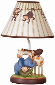 Kids line jungle 123 lamp base and shade brown babitha for Jungle floor lamp for nursery