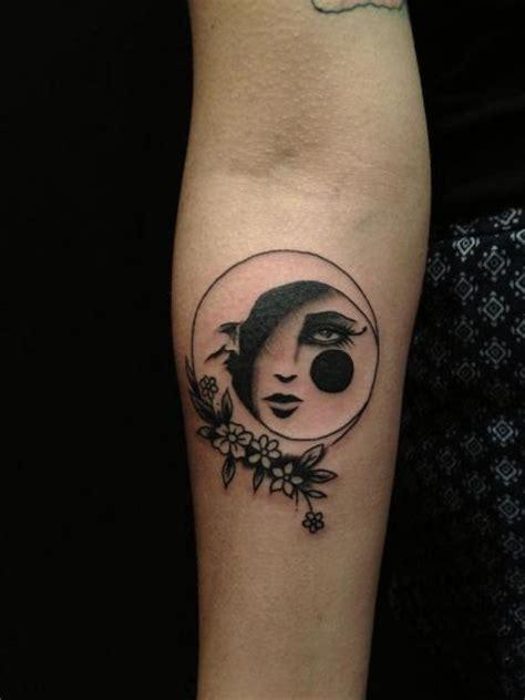 sad moon tattoo  hand  hidden moon tattoo