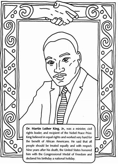 Luther Martin King Coloring Jr Pages Worksheets