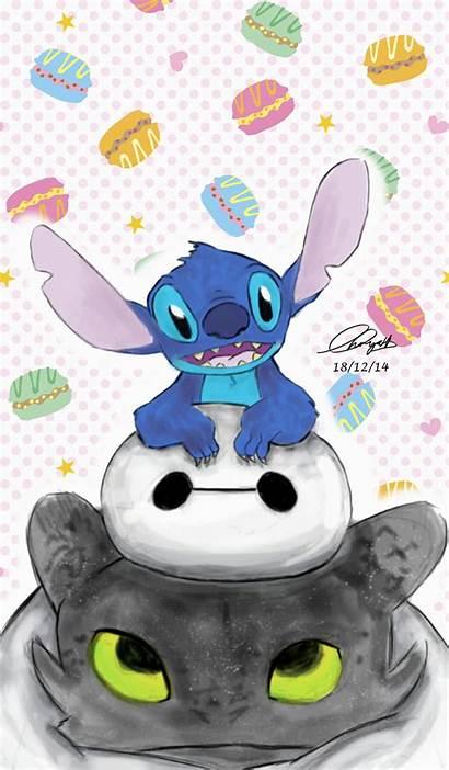 Stitch Toothless Lilo Disney Cartoon Wallpapers Stich