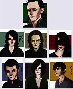 Loki and his children by sibandit