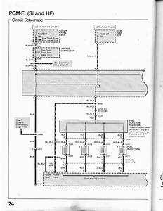 24-0 Pgm-fi Circuit Schematic  Si And Hf