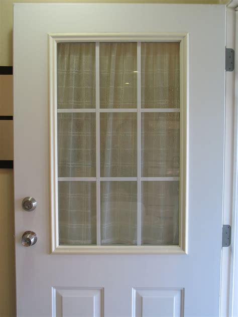 Exterior Door With Window by This Thrifty House Spray Painted Door Trim