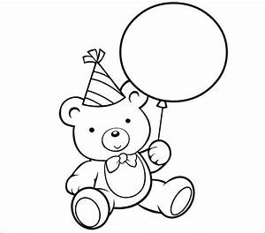 92+ [ Birthday Bear Coloring Page ] - Beautiful Teddy Bear ...