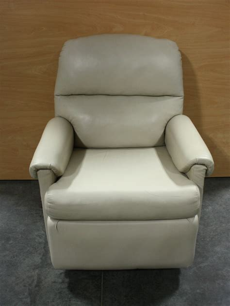 rv furniture used soft plush leather swivel rocker