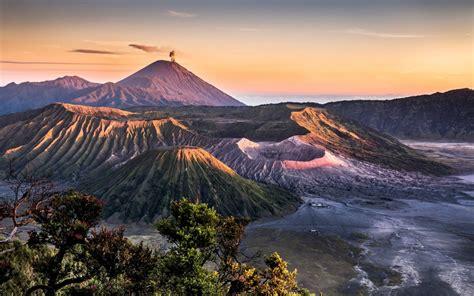 landscape volcanic mountains hd desktop wallpaper