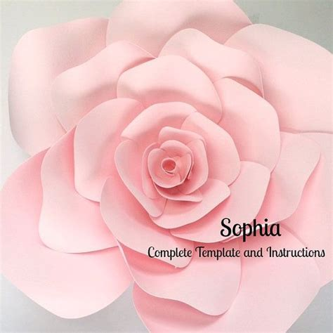 paper flower backdrop template diy paper flower template images template design ideas
