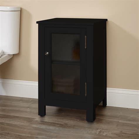 floor l with storage glass storage cabinet signaturehardware