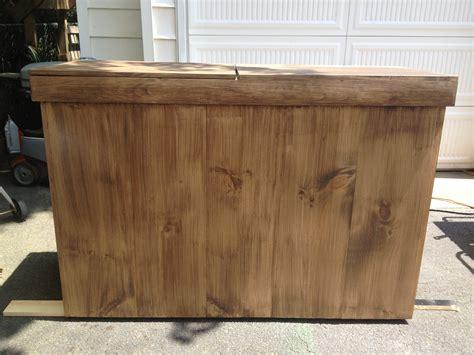 diy outdoor bar  built  cooler