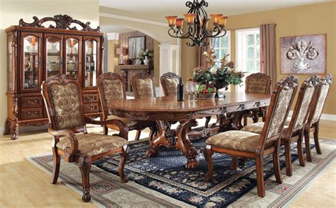 antique dining room table chairs cm3557t medieve dining table in antique style oak w options 7472
