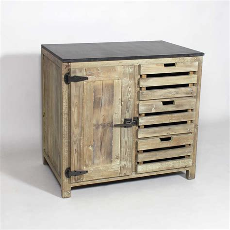cuisine made in meuble cuisine bois recyclé poignées type frigo made in