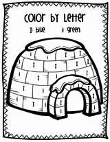 Letter Ii Coloring Preschool Igloo Worksheets Pages Activities Kindergarten Word Teaching Letters Winter Alphabet Arctic Teacherspayteachers Prek Words Igloos Theme sketch template