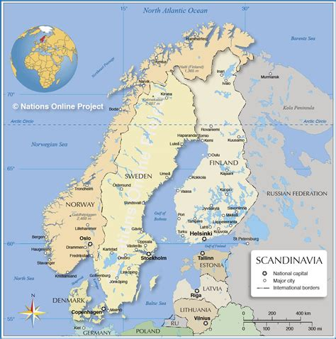 Which For The Nordic Countries Map Of Europe And Scandinavian Countries Thefreebiedepot