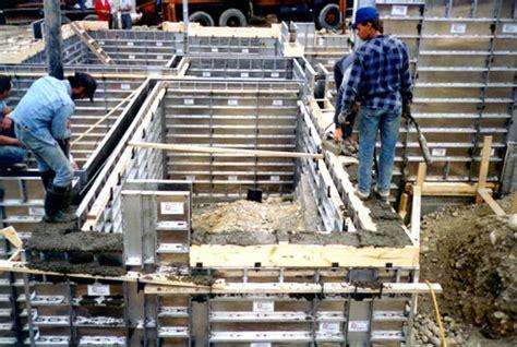 Concrete Basements Poured With Aluminum Concrete Forms Or