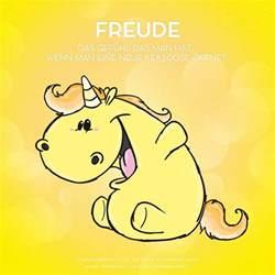 freude sprüche pummeleinhorn freude unicorn