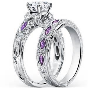 free wedding band fashion hot design silver purple cubic zirconia wedding