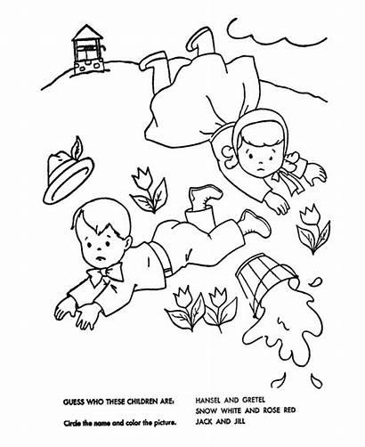 Jill Nursery Jack Coloring Rhyme Rhymes Pages