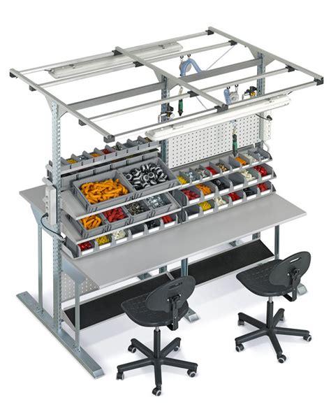 bureau avec ordinateur intégré table de travail ergonomique ergonomie mobilier industriel
