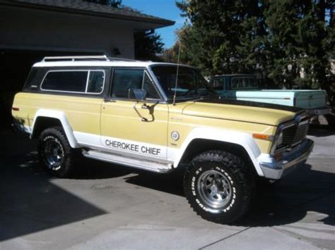 1979 jeep cherokee chief buy used 1979 jeep cherokee chief 2 door 4x4 2nd owner low