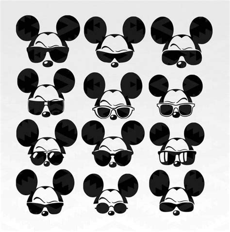 The dxf format files are compatible with design software such as vinyl. Sunglasses Mickey svg,Mickey ,minnie svg,minnie vector ...