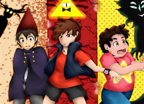 Three Worlds : Wirt Dipper and Steven by Shockwave05 on