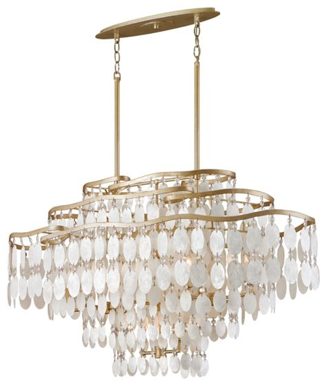 dolce capiz shell and oval chandelier pendant