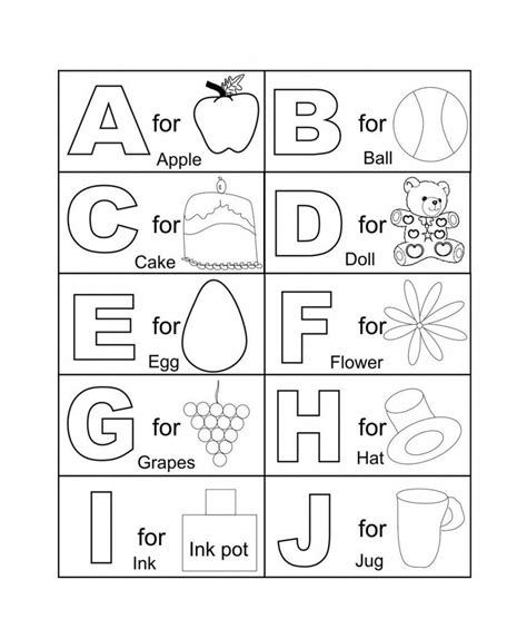 printable abc coloring pages  kids household