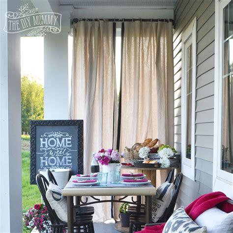 make outdoor drop cloth drapes a porch warming