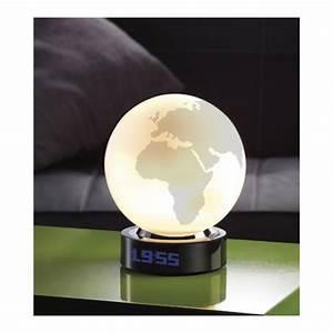 Lampe Globe Terrestre : r veil lampe globe terrestre avec 16 m lodies diff rentes ~ Teatrodelosmanantiales.com Idées de Décoration