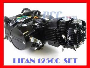 Lifan 125cc Motor Dirt Bike Engine Complete Set 125m-s