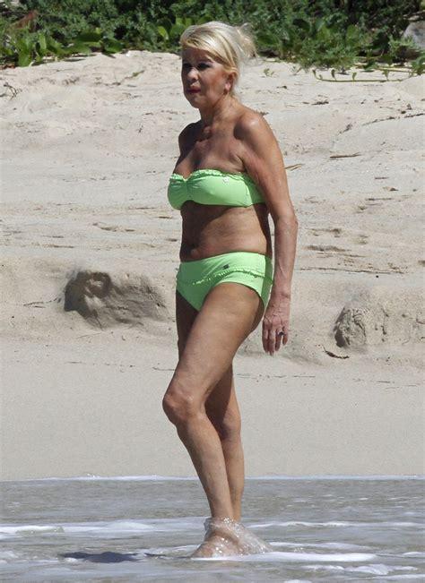 ivana trump  ivana trump shows  age  green bikini