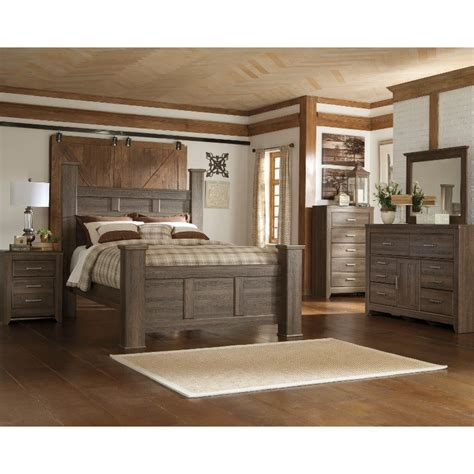 Bedroom Rental Sets by Fairfax Driftwood Rustic Modern 6 Bedroom Set