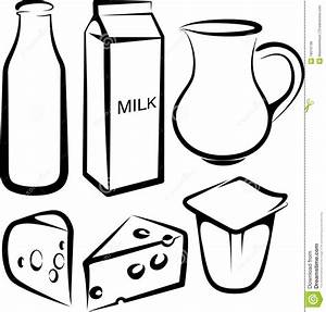 Set of dairy products stock vector. Illustration of ...