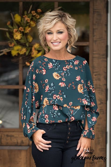 Vintage Vibes Floral Top Dark Green In 2019 Fashion