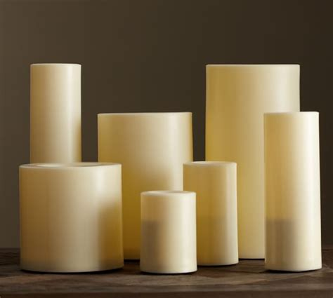 pottery barn candles flameless outdoor pillar candle ivory pottery barn